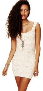 Free People short dress Ivory Bodycon Lace on Tradesy