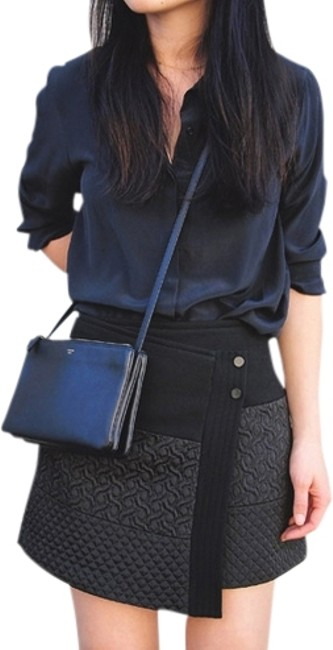 Zara Top Navy Blue