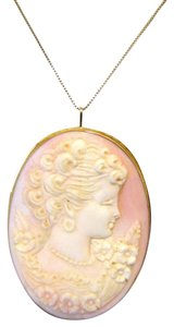 AMEDEO M&M Scognamiglio 60MM 14kt Pink Conch Shell Cameo