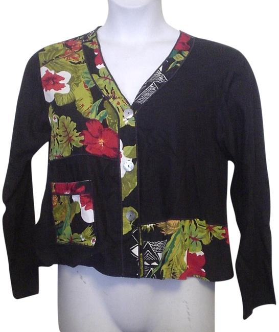 Preload https://img-static.tradesy.com/item/19701048/black-with-tropical-floral-blocks-m-short-sleeve-shirt-casual-style-button-down-top-size-8-m-0-3-650-650.jpg