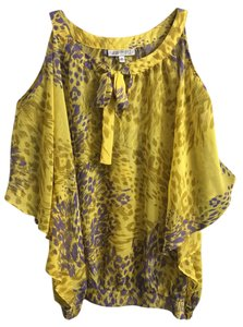 Jennifer Lopez Top Yellow/ Purple