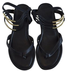 MIA Black/Gold Sandals