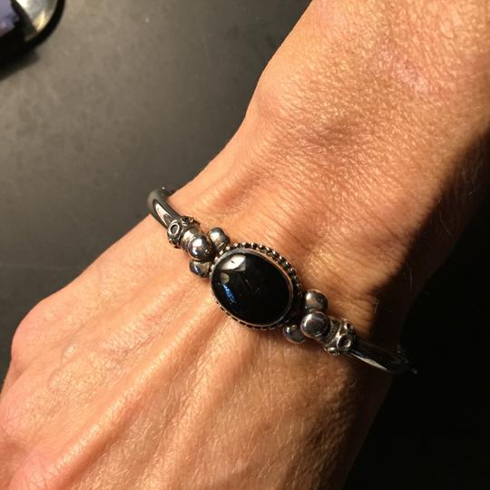 Sterling silver and onyx bravelet Image 1