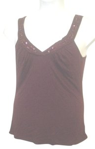 Mossimo Supply Co. Dark Surplice Medium Top Maroon