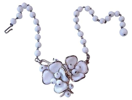 Trifari Poured Glass Alfred Philippe Flower Necklace