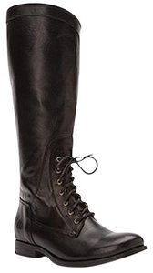 Frye Melissa Riding Moto Black Boots