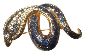 Joan Rivers Estate Blue Snake Pin From Joan's Personal Jewel Box!