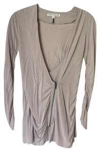 Twenty8Twelve Longsleeve Asymmetrical Zipper Top Grey