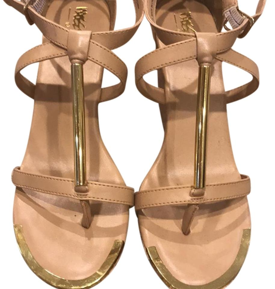 1466f0bd318 Mossimo Supply Co. Nude Pembroke Wedges. Size  US 8 Regular (M ...