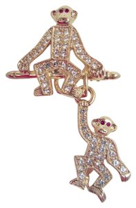 Joan Rivers Joan Rivers Estate Monkey Duo Pin From Her Personal Jewel Box! Rare!