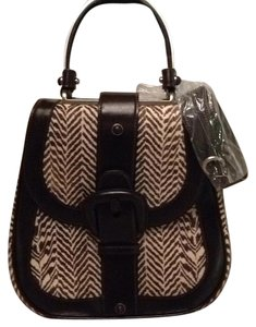 Calvin Klein Collection Satchel in Brown Leather And Zebra Print