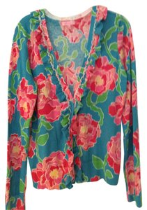 Lilly Pulitzer Ruffles Floral Cardigan