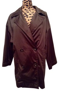 Ellen Tracy Brown Size L 12 Trench Coat