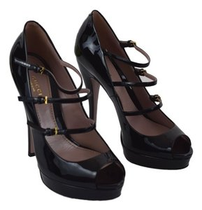 Gucci Lisbeth High Heels Mary Jane black Platforms