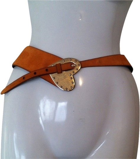 Escada ESCADA Heart Buckle Suede Belt