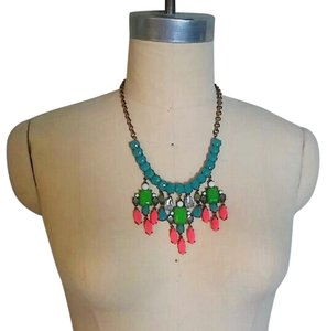 J.Crew Vibrant Color Statement Bib Necklace