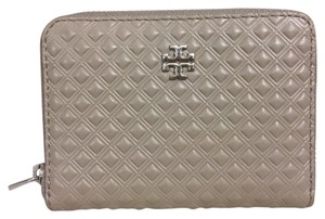 Tory Burch New Tory Burch Marion Zip Coin Card Key Case French Gray w Receipt