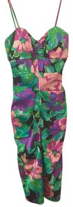 Cache Party Floral Patterned Midi Pencil Dress