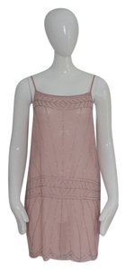 Free People Tunic Pink Beaded Dress