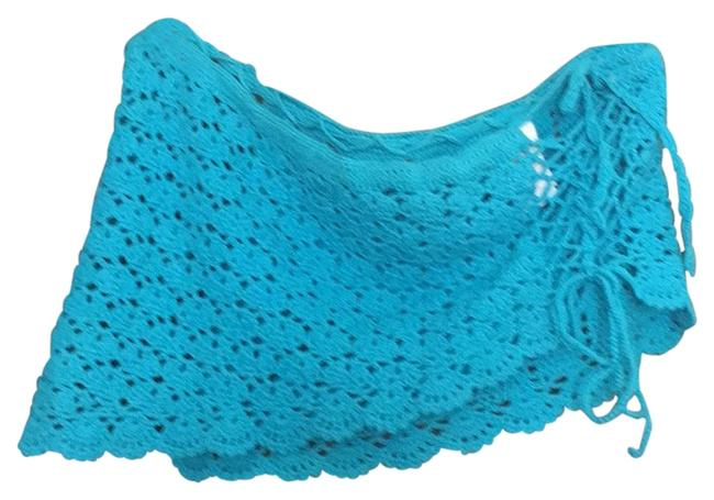 Item - Teal Blue Crochet Cover-up/Sarong Size 6 (S)