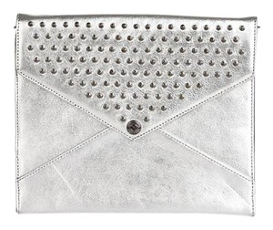 Rebecca Minkoff New Studded silver Clutch