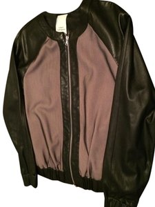 Robert Rodriguez Black & Tan Leather Jacket