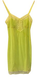 Free People short dress Yellow/Green Slip Nightgown Green on Tradesy