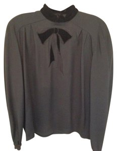 Valentino Bow Vintage Velvet Top Black