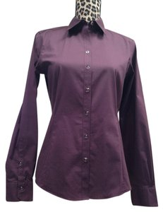 Brooks Brothers Button Down Shirt Dark Purple / Plum