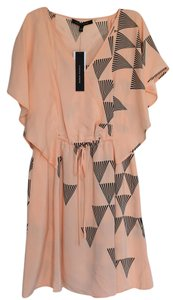 Cynthia Steffe short dress Peach and Black Silk Flutter on Tradesy