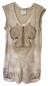 3.1 Phillip Lim short dress Neutral Shades Mini Tie Dye Beaded Sleeveless on Tradesy