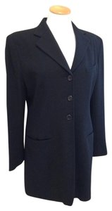Ralph Lauren Classic Topper Preppy Tailored Black Blazer