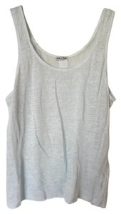 120% Lino Sleeveless Tea Length Casual Top Light Blue