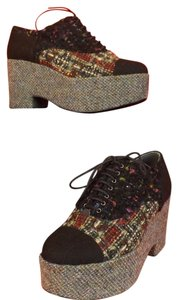 Chanel Multi-color/Black Wedges