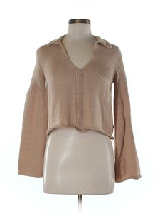 Marni Wool Mohair Cropped V-neck Collared Sweater