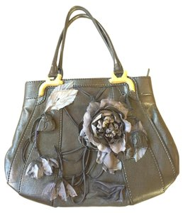 Valentino Floral Leather Brass Shoulder Bag