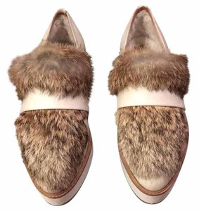 Australia Luxe Collective Fur White and brown Flats