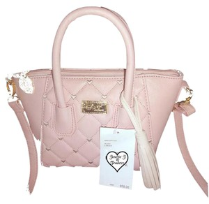 Betsey Johnson Small Cross Body Satchel in blush