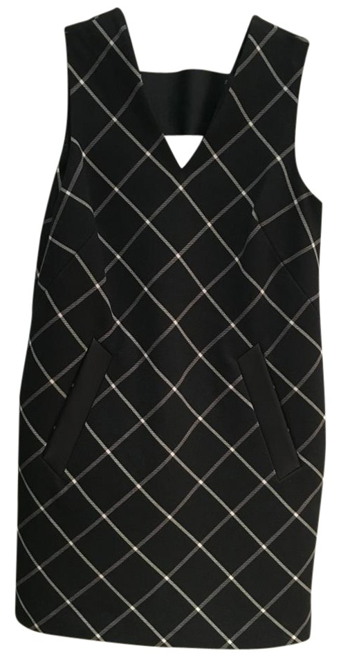 Phoebe Office Rag Work Dress Windowpane V Bone Shift neck amp; ffrqEn8O
