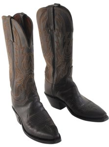 Lucchese Western Country Cowboy Brown Boots