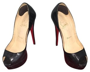 Christian Louboutin Grey with stiching Platforms
