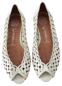 Jeffrey Campbell Low Wedge Leather White Flats