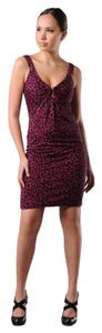 Diane von Furstenberg Silk Print Keyhole Notch Sleeveless Dress
