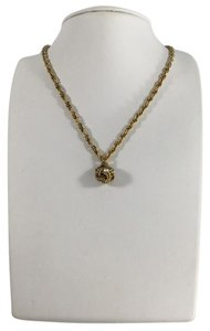 Chanel Gold Rope Rhinestone Necklace