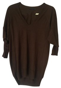 Donna Karan 3/4 Sleeves Cashmere V-neck Comfortable Sweater