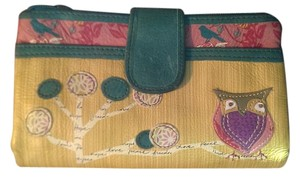 Fossil Fossil Brand Owl Wallet or Clutch Multicolor Leather Cutout