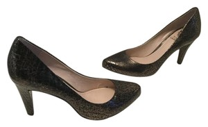 Vince Camuto Blend Almond Toe NEW Black Gold 3 1/4
