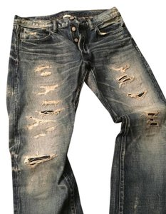 Fabric Brand Mens Like New Straight Leg Jeans-Distressed