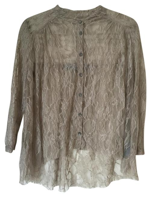 Item - Neutral Brown/Greyish Blouse Size 4 (S)