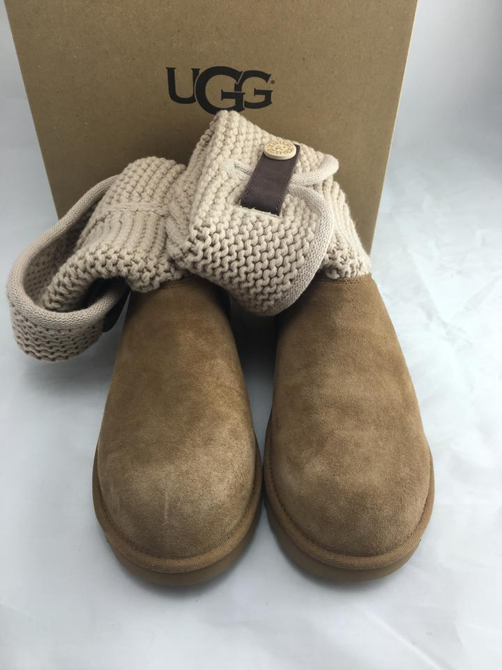 706a0927cd8 UGG Australia Chestnut Suede Shaina Knit Cuff Boots/Booties Size US 8  Regular (M, B) 25% off retail
